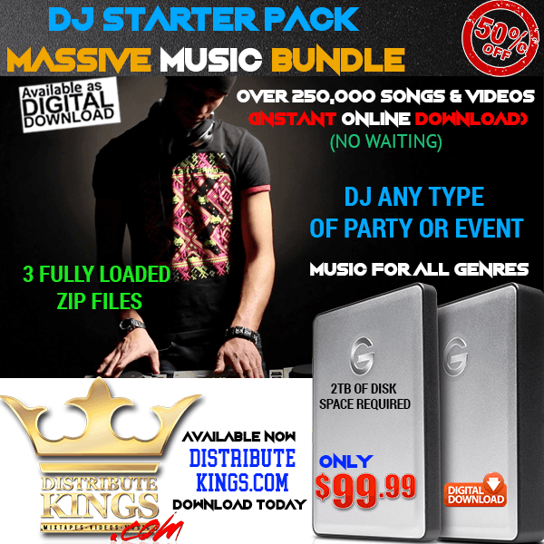 DJ Starter Kit / 250,000 Music & Video Files / Instant Download